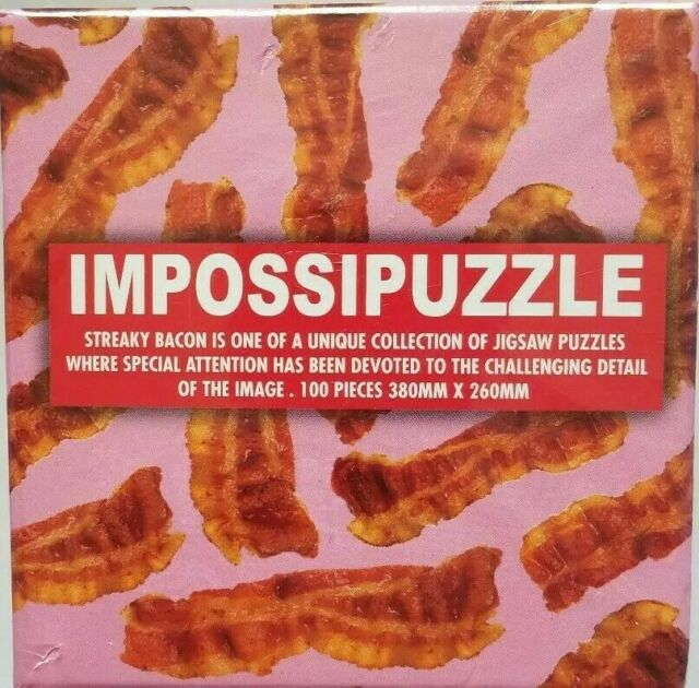 Impossipuzzle 100 Jigsaw Challenging Puzzle Streaky Bacon Fun Games