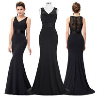 STOCK Long Bridesmaid Formal Prom Party Evening Gown Dress Size 8 12 14 16 18 20