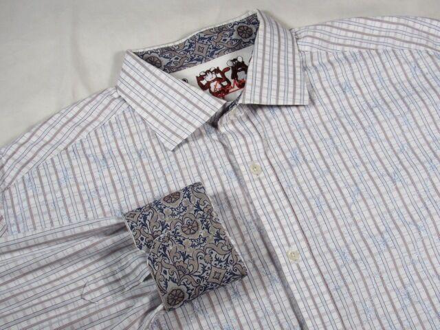 Robert Graham-Para Hombre XL-Nordstrom Vestido Y Camisa  Informal-Perfecto Raro monos  promociones de descuento