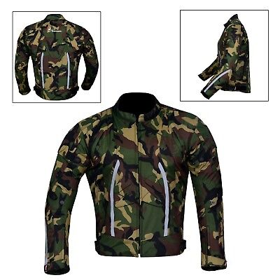 NORMAN Camouflage Mens Jacket Motorcycle Motorbike Waterproof Textile Cordura with CE Armoured