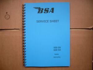 bsa m20 500cc service repair workshop manual
