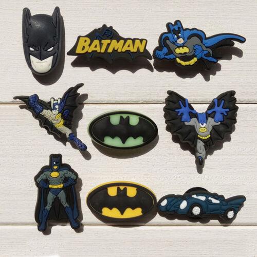 9-10pcs//lot BATMAN PVC Shoe Charms Accessoires Fit in Chaussures /& bracelets cadeaux