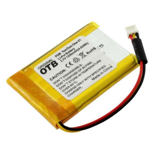 Akku für TomTom One V1  Sennheiser DW800  3,7V  1250mAh  Li-Polymer