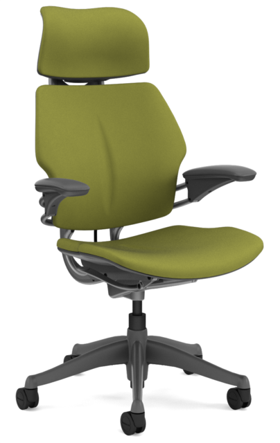 Humanscale Freedom F211 Sage Green Wave Fabric Anium Frame Office Desk Chair