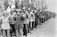 WWII B&W Photo US Prisoners of War at Battle of the Bulge    WW2 / 1165