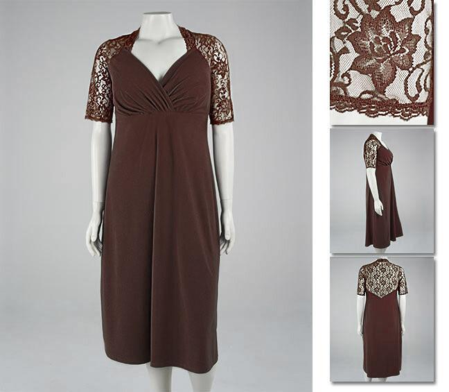 NEW   Zaftique DIVINE LACE Dress CHOCOLATE Coffee Brown 1Z   16 18   XL 1X