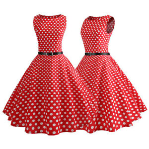 Retro-1950s-Women-Polka-Dot-Swing-Skater-Dress-Summer-Rockabilly-Evening-Party