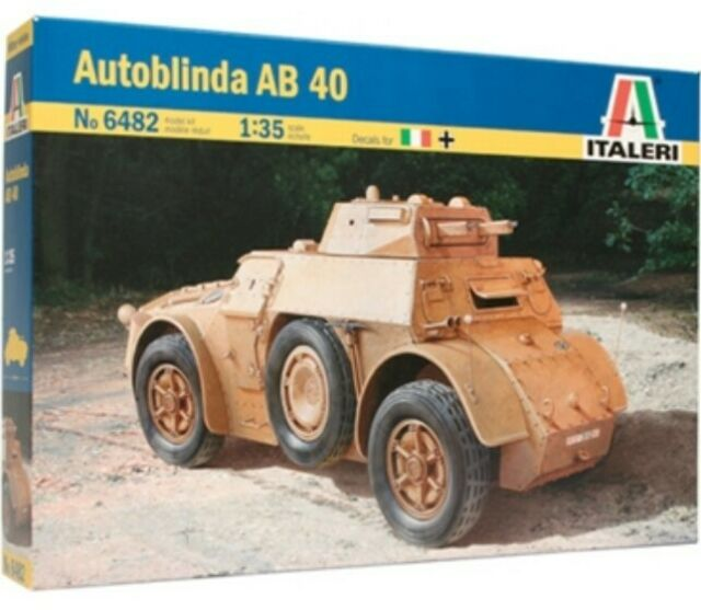 Italeri 6482  AUTOBLINDA AB 40  scala 1/35 kit