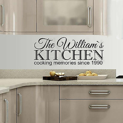 Decal Wall Sticker Modern Transfer Family Kitchen PERSONALISED Wall Art Quote