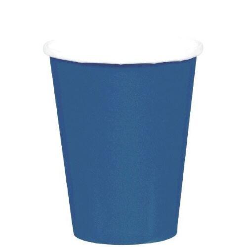 8 bleu marine gobelets en papier 9 oz 266 ml ANNIVERSAIRE MARIAGE FÊTE SOLIDE COULEUR vaisselle environ 255.14 g