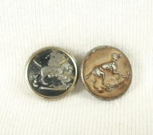 2 Boutons De Chasse à Courre Vénerie Chien D'arrêt Dog Hunt Hunting Old Buttons S0ypyr1u-07234756-168067386