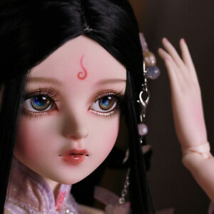 1-3-BJD-Doll-60cm-Female-Puppe-Makeup-Changeable-Eyes-Wigs-Clothes-Instrument