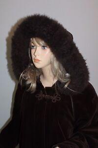 70er-70s-Vintage-VTG-Winter-Samt-Lammfell-Mantel-VELVET-lambskin-COAT-Hippie-M
