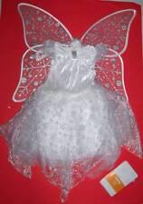 GYMBOREE WINTER FAIRY COSTUME w Wings Tights 3-4 Snow Princess Angel Halloween