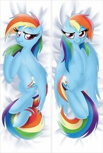 Image is loading My-Little-Pony-Rainbow-Dash-Pillow-Case-Dakimakura-