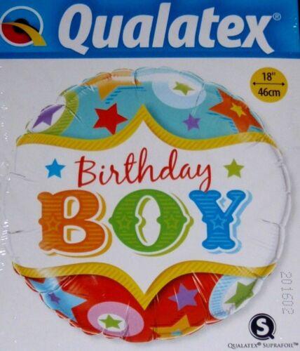 "18/"" Qualatex Globos De Aluminio Feliz Cumpleaños Niño 1ST 2ND 3RD 4TH 5TH"