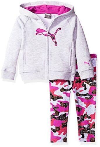 PUMA ULC Childrens Apparel Baby Girls 2 Piece Floral Print Long Sleeve