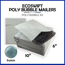 1 0 6x10 Poly Bubble Mailers Padded Envelope Shipping Supply Bags 6 X 10