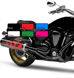 2-x-Flame-114-Fuel-Tank-Fire-Vinyl-Motorcycle-Motor-Decal-Sticker-Motorbike-Bike