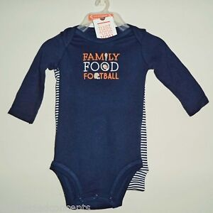 9663433604dd Image is loading Carters-Thanksgiving-Family-Food-amp-Football-Infant-Outfit -