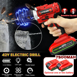 42V-Electric-Cordless-Drill-50Nm-Screwdriver-25-1-Torque-LED-Light-w-2-Battery