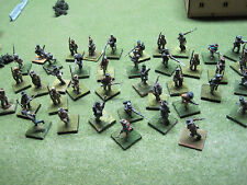 ACW 28mm CSA Infantry Army/Painted metal wargaming/Huge 50 fig. group,Old Glory?
