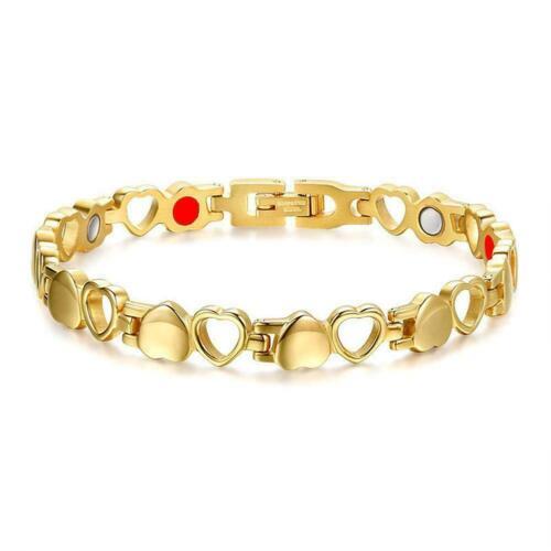Elegantes Damen Silber Magnetarmband Edelstahl Armbänder Liebe J0M8 Herz Zi Y5I1