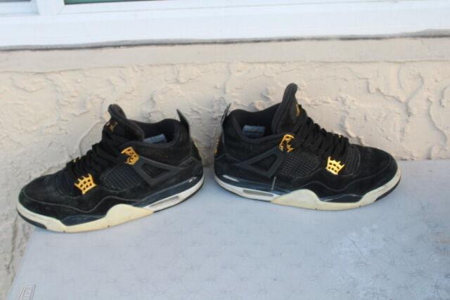 online retailer c3efb 1e287 Nike Air Jordan IV 4 Retro ROYALTY OG BLACK GOLD WHITE CEMENT 308497-032 SZ  10
