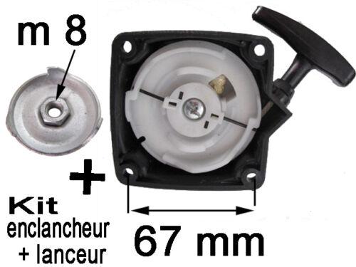 enclancheur debroussailleuse pompe tariere  30 a50cc entraxe 67mmm kit LANCEUR
