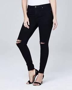 Simply-Be-Chloe-Womens-Ladies-Ripped-Knee-Skinny-Jeans-Black-12-30-32