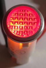 Red With Steel Bezel Panel Mount Round Indicator Light Solico 14v 1 Watt