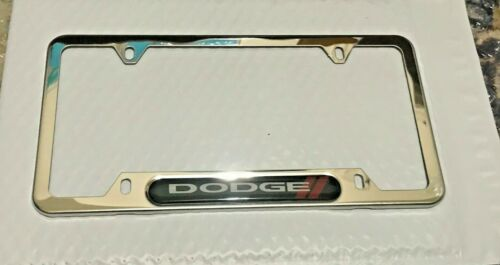 Chrome Stainless Steel Front Rear Emblem License Plate Frame Cover Dodge