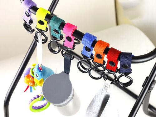 2Pcs Buggy Clip Pram Pushchair Stroller Side Hook Baby Handle Shopping Bag JB