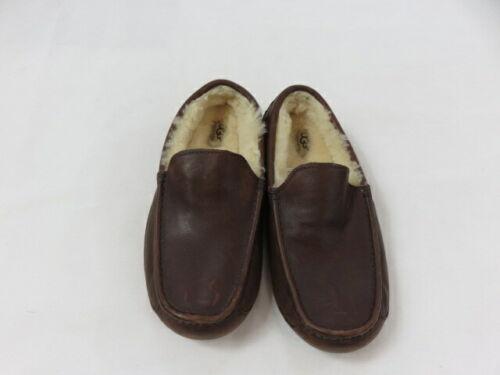 Ugg Men's Brown Leather Sheepskin Moccasin Slipper
