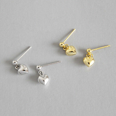 Ohrstecker Mit Anhänger 3d Herz Echt Silber 925 Damen Ohrringe Ohrrhänger Freigabepreis