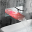 Bathroom-Wall-Mount-Basin-Tub-Mixer-LED-Waterfall-Faucet-Single-Lever-Brass-Taps thumbnail 9