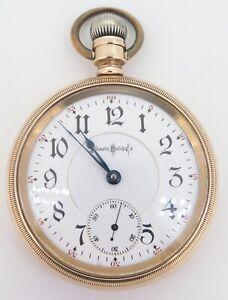 1897-Illinois-Bunn-Special-24-Jewel-18s-14K-Gold-OF-Railroad-Pocket-Watch