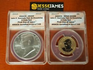 2019 W CENT  ONE REVERSE  PROOF PENNY  RP  69 ANACS sold WITH US Mint OGP
