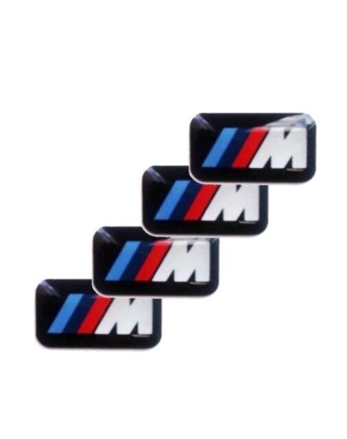8 x BMW M Power Alu Felgen Emblem Aufkleber Logo Sticker Tacho Lenkrad 3D neu