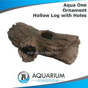 37801 aqua one small hollow log catfish pleco aquarium for Aquarium log decoration