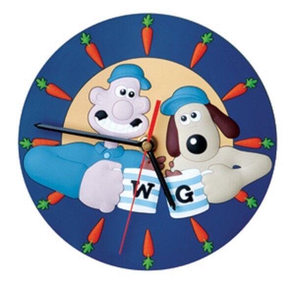 NEUF RARE Wallace et Gromit Horloge murale alarme figure statue & Watch Cartoon Doll