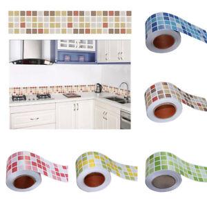 Eg 1m mosaik sockelleiste wandsticker aufkleber for Mosaik aufkleber