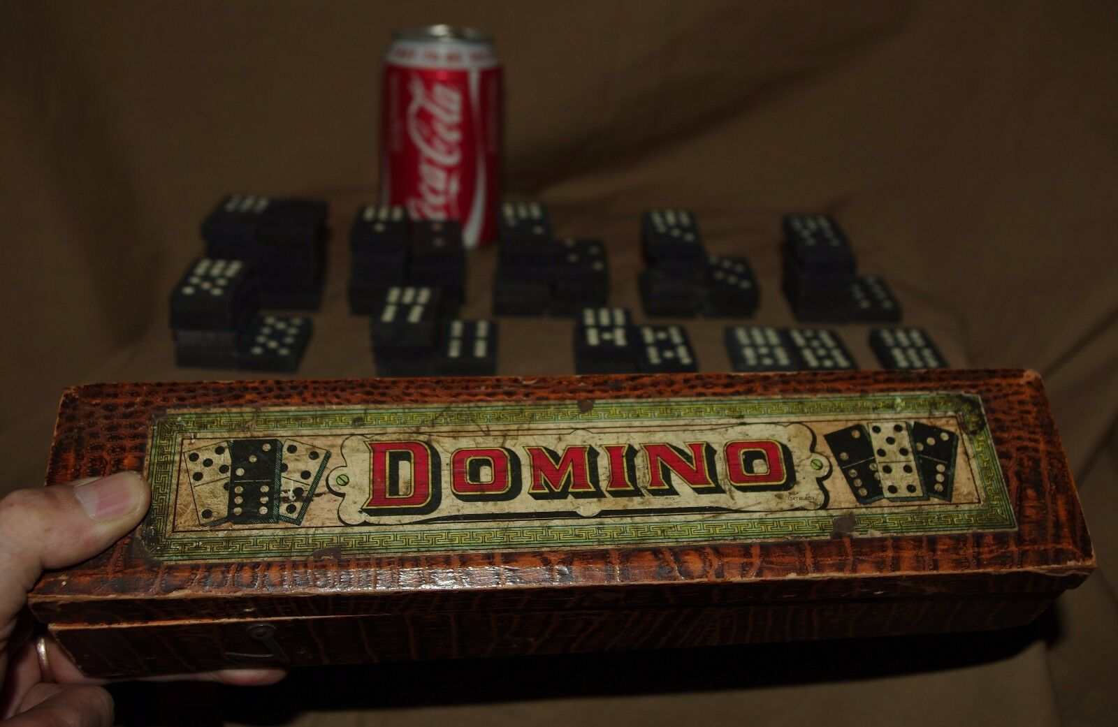 VINTAGE DOMINOES SETS GAMES DOMINO DOUBLE NINE
