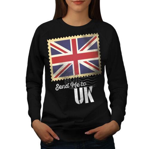 England Casual Pullover Jumper Wellcoda UK Flag Tourist Womens Sweatshirt
