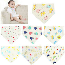 7Pcs Infant Kids Cotton Bandana Bibs Feeding Saliva Towel Dribble Triangle Set