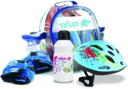 /'Nkit Kit Completo Protezioni per Bambini per Bici e Skateboa /'Nfun
