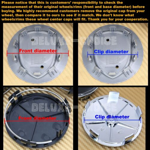 4 TRANSFORMERS DECEPTICON WHEEL CENTER CAP HUB 60mm FOR FACTORY//AFTERMARKET RIM