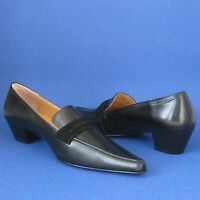 Patrizia Pancaldi Black Leather Low Heel Pumps - It38 - Final Sale