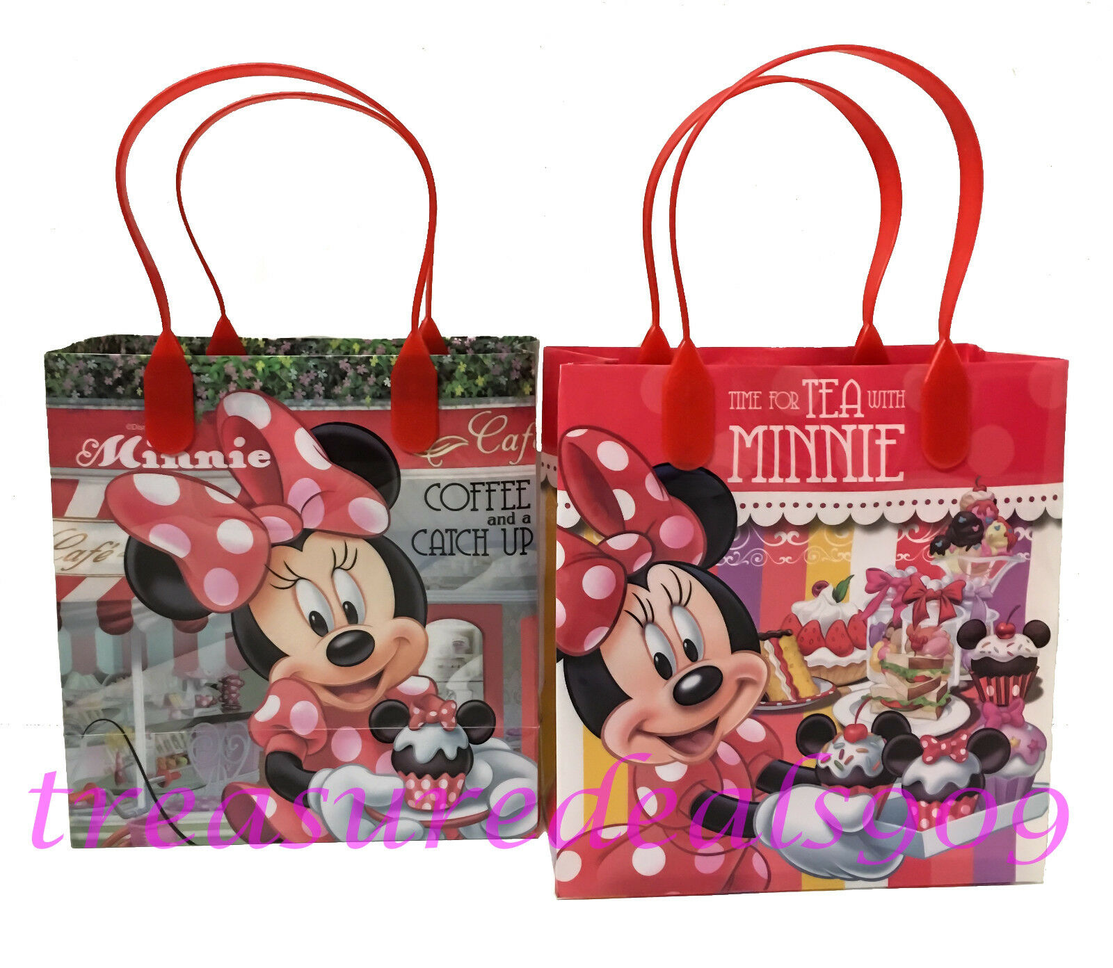 6 PC DISNEY MINNIE MOUSE GOODIE GIFT BAGS PARTY FAVORS