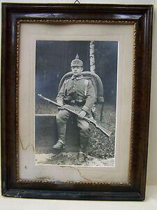 Obedient Bonito Antiguo Madera Marco De Fotos Ks Regimiento De Infantería 177 Crease-Resistance Kamenz